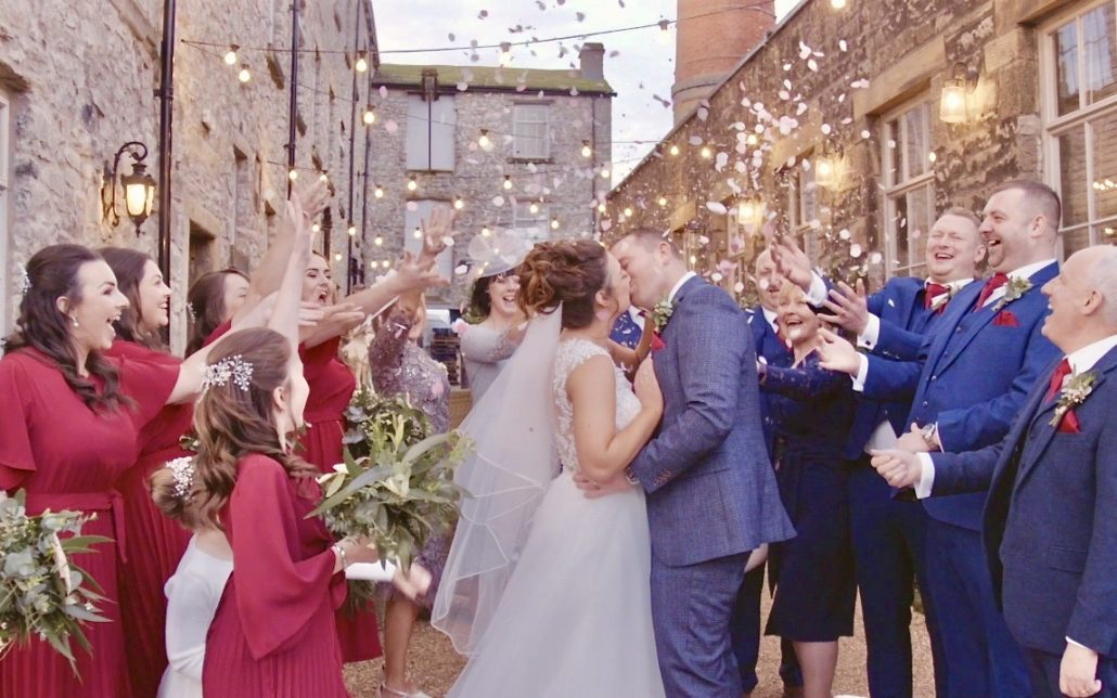 Holmes mill Clitheroe wedding videographer